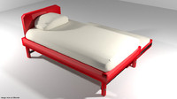 bed trundle 3d model