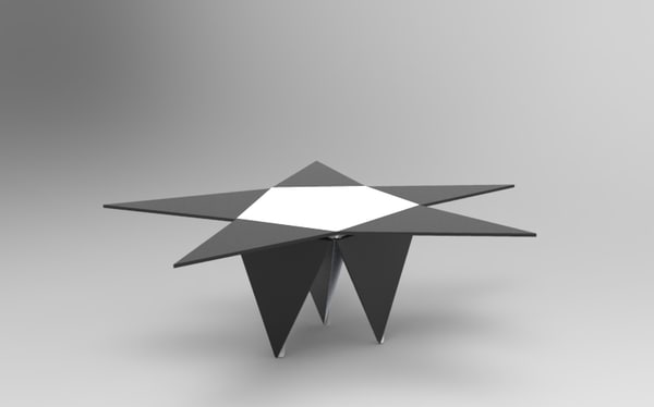 3d starry modern coffee table