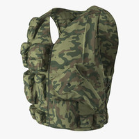 3d max military camouflage vest