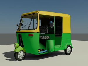 car auto rickshaw 3d model