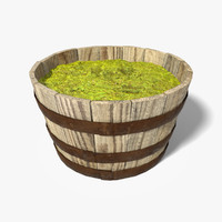 Oak Barrel Planter(1)