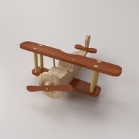 wooden airplane 3d x