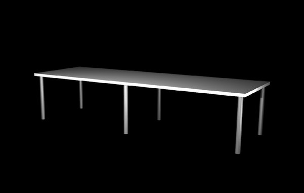 3d model large table