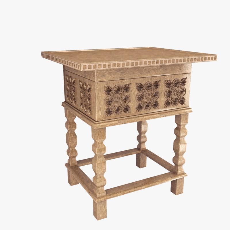old table 3d obj