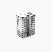 3d luxury apartment building model
