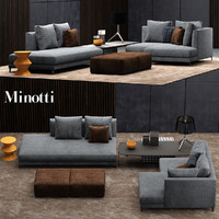 minotti allen sofa 3d model