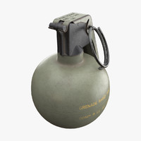 m67 grenade 3d model