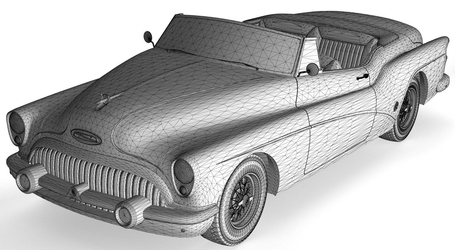 3d model buick skylark convertible 1953
