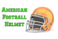 american football helmet 3d x