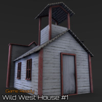 ready wild west house 3d 3ds