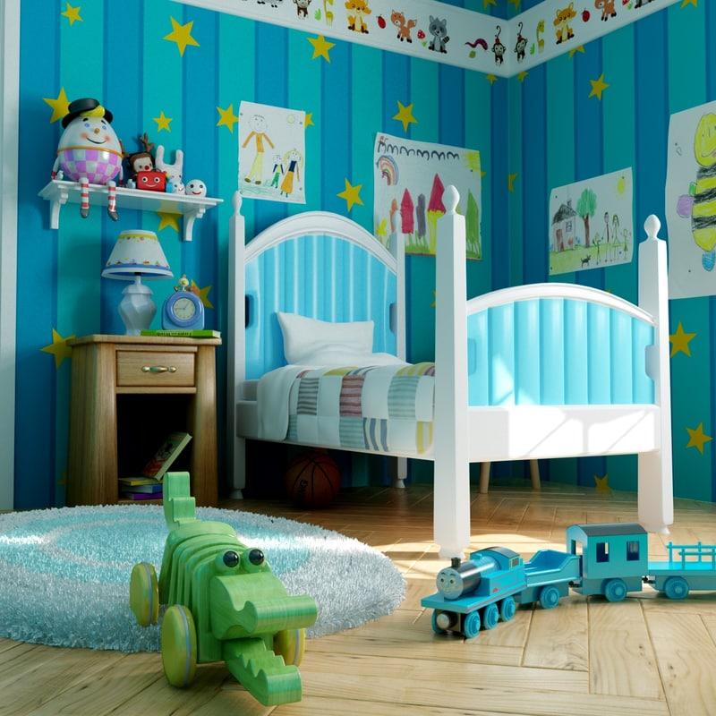 3d model kid room