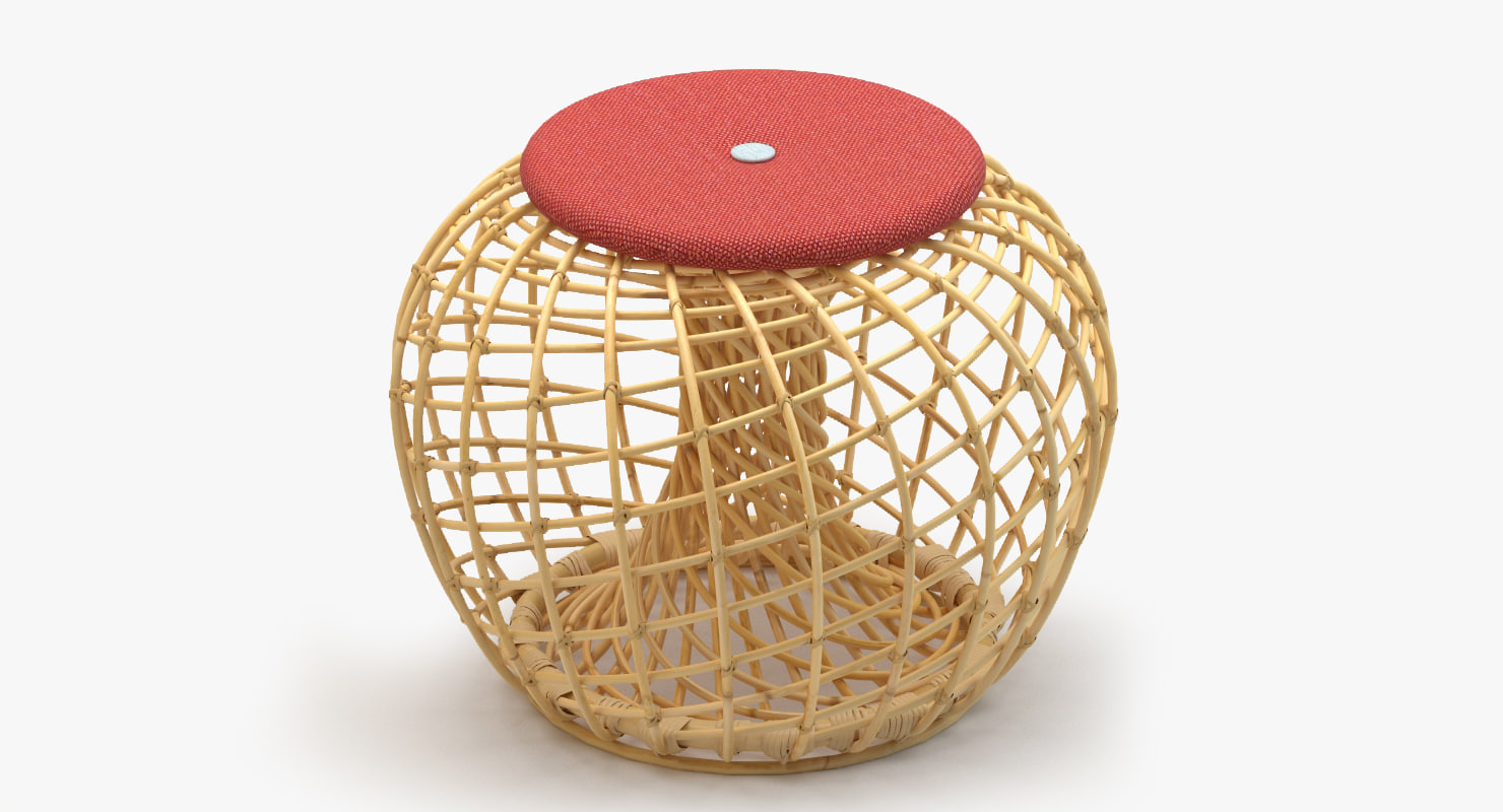 cane-line nest small footstool max