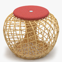 3d model of cane-line nest small footstool