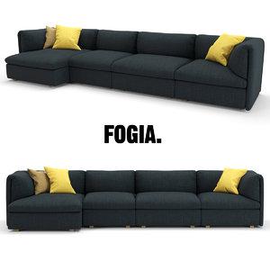 3d model sofa fogia