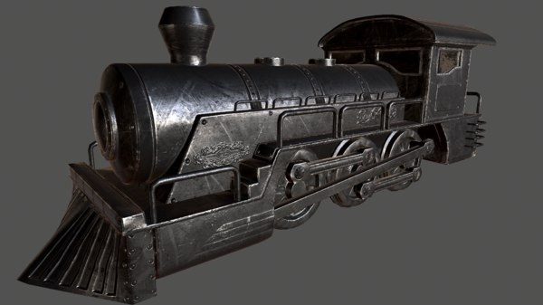 3d model of locomotive