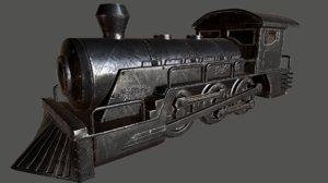 3d model of locomotive