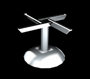 3d metal table base
