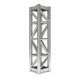steel truss girder element 3d model