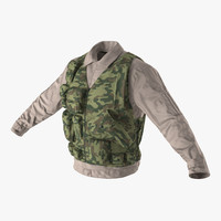 military shirt camouflage vest 3d max