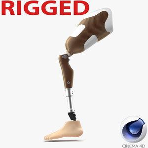 3d model prosthetic leg rigged
