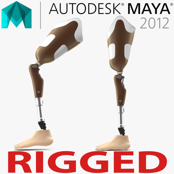 3d prosthetic leg rigged