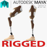 3d prosthetic leg rigged