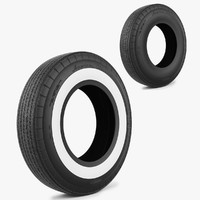 tire classic american 3d max