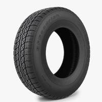3d model tire bfgoodrich