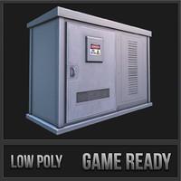 utility box 02 3d model