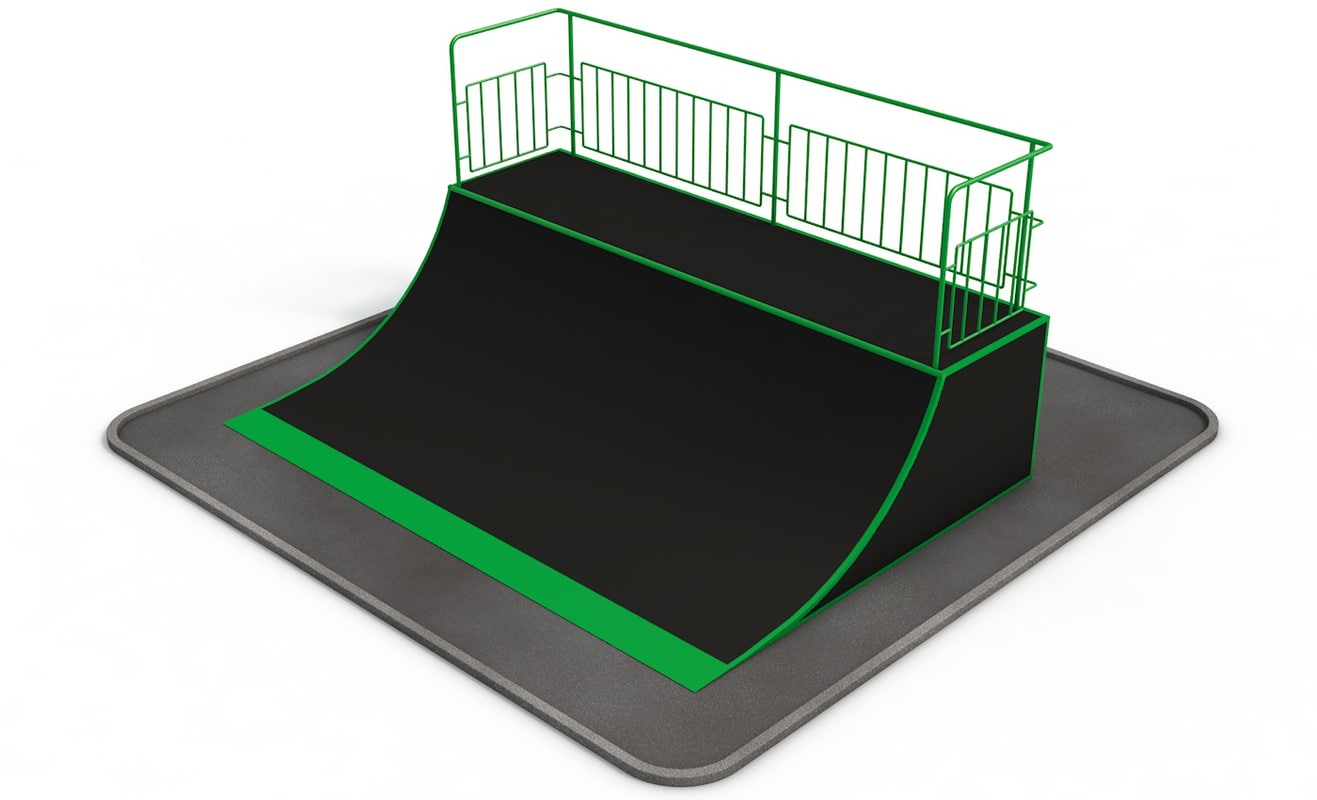 quarter pipe skate park 3d model