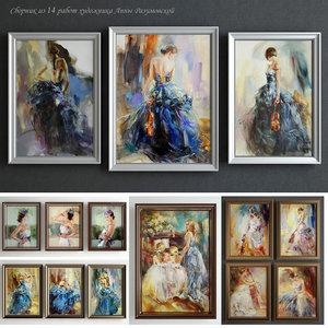 paintings anna razumovskaya 3d model