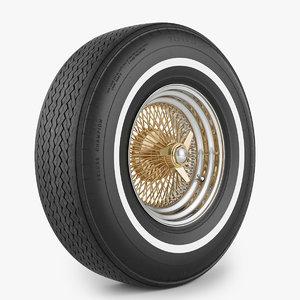wheel tire wire 3d model
