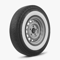 3d model wheel tire classic