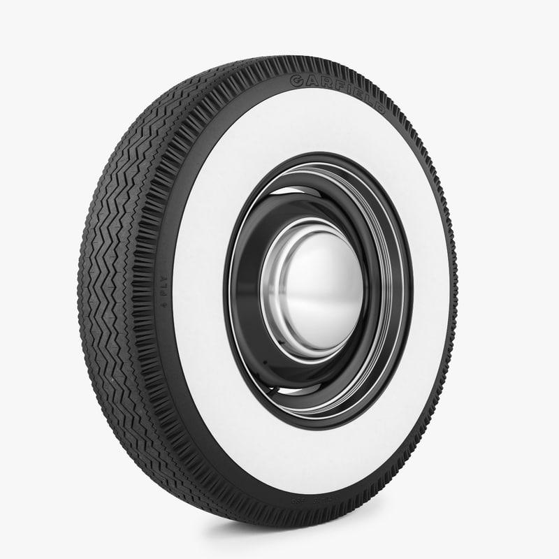 wheel tire garfield 3d max