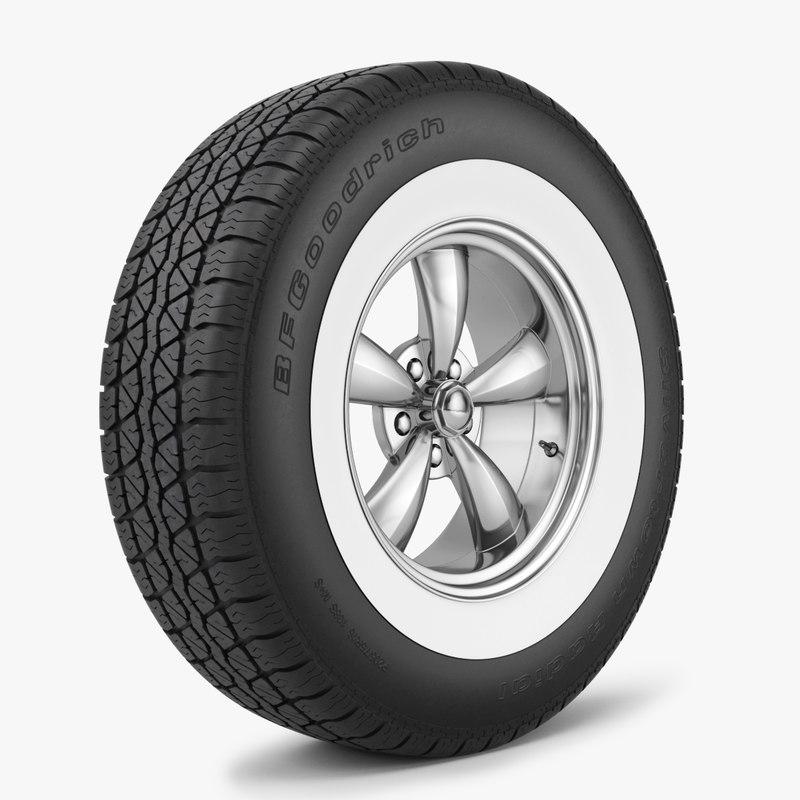 wheel tire bfgoodrich 3d model