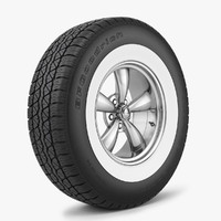 wheel tire bfgoodrich 3d model