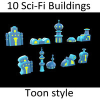 10 Toon Scifi buildings