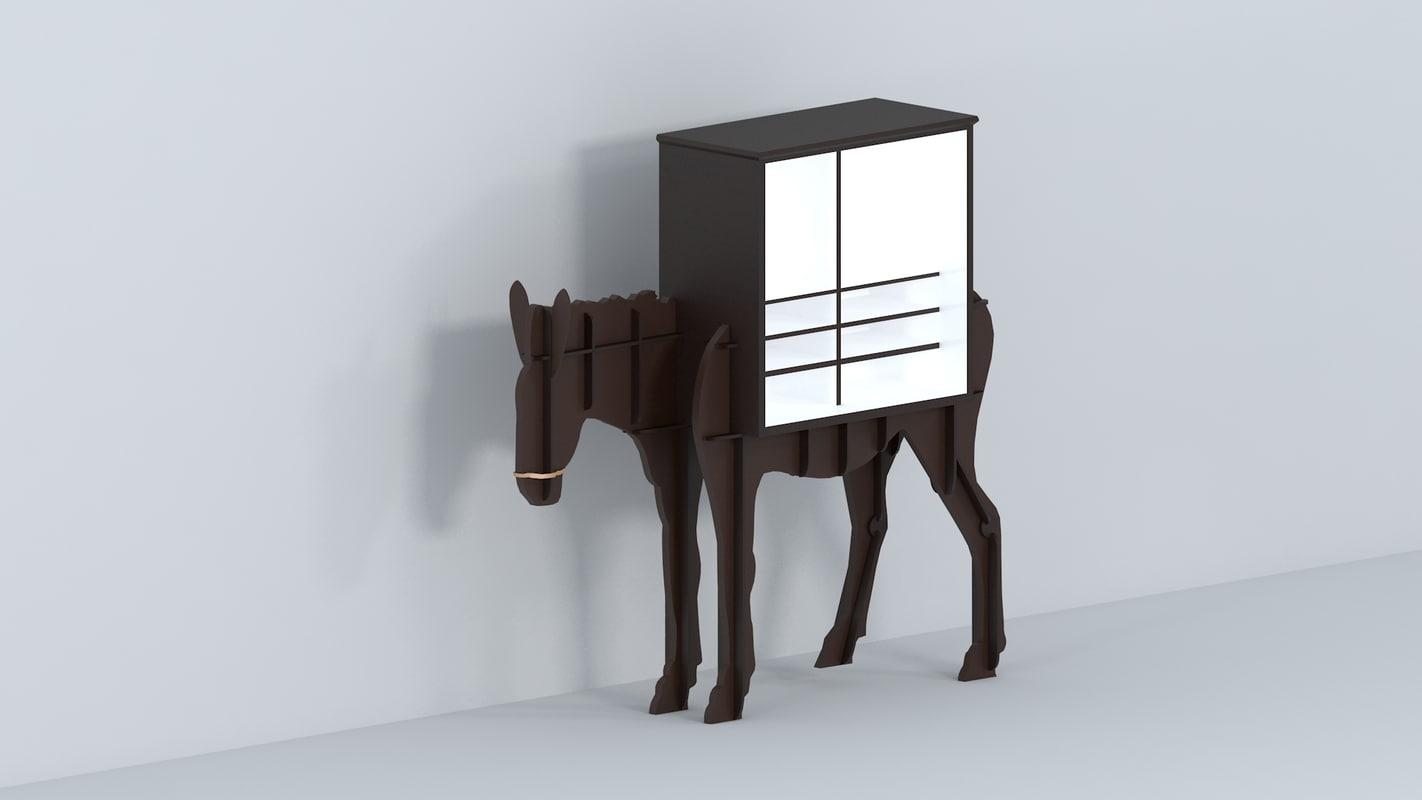 free pony wardrobe 3d model