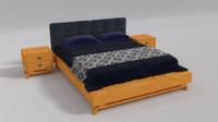 3d fbx castello bedroom