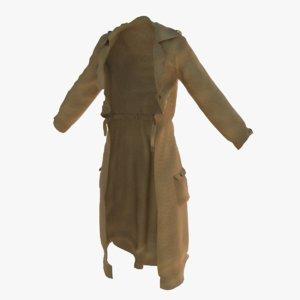 3d trench coat model