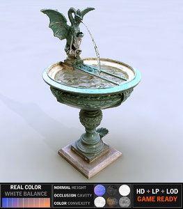 3d fountain scanned