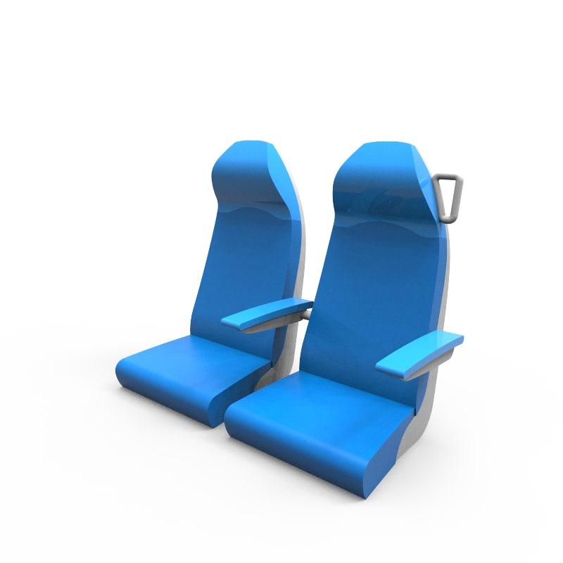 3d model seats