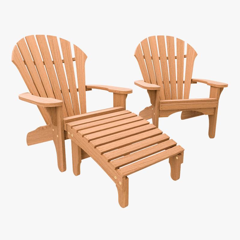 chair footrest atlantic 3d max