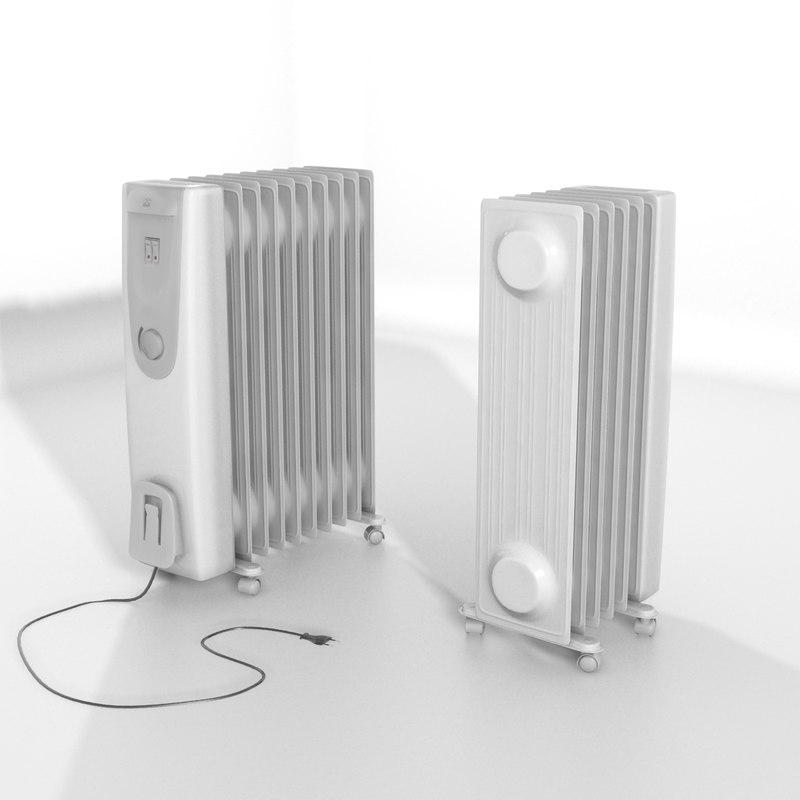 3d model oil radiator games