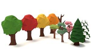 3d model tree pack variations