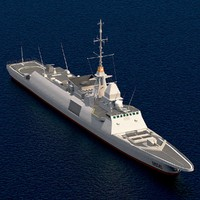 frigate european multi mission 3d max