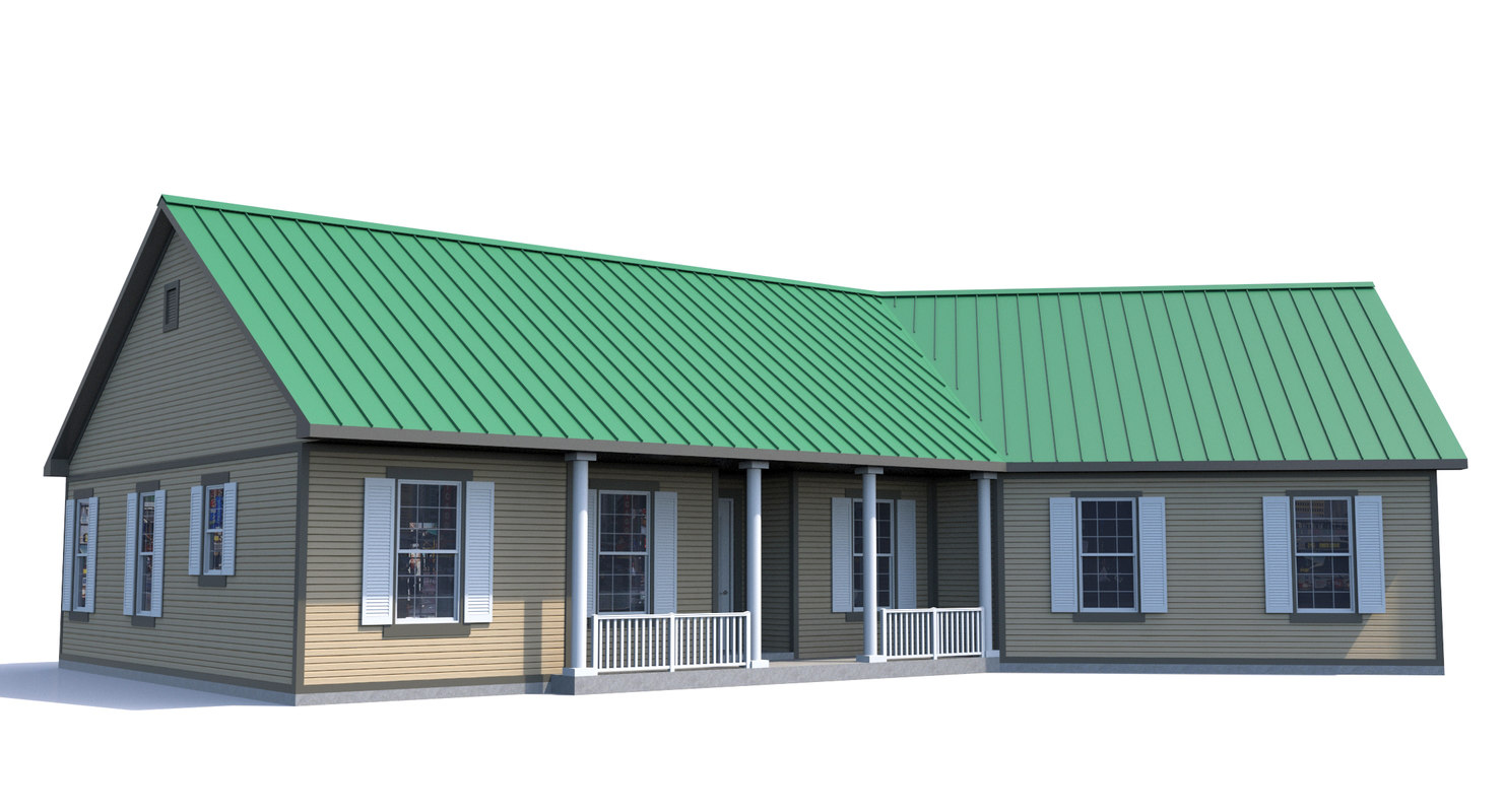 3d model house-008 home exterior house
