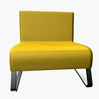 maggion armchair 3d 3ds