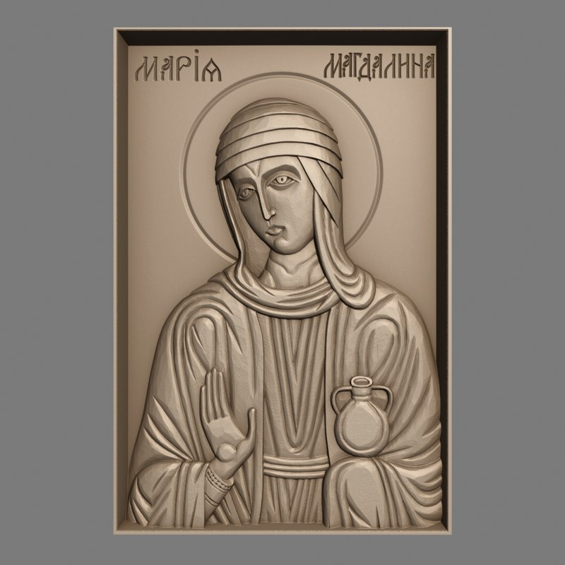 3d obj orthodox christian icon st