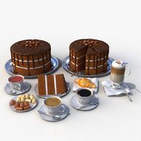 set desserts cake 3d max